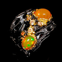 Opal Ring Silver 925 Sterling Fine Jewelry Design Size 8 /R140752