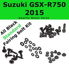 Black Fairing Bolt kit body screws fasteners for Suzuki GSX-R 750 2015 GSXR