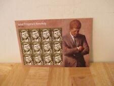 President John Fitzgerald Kennedy Jfk Forever Usps Stamp Sheet, 12 Stamps