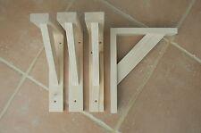 """Wooden Shelf Brackets x 4 (Ideal for 8"""" - 9.5"""" Shelves)"""