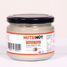 Nutri Nut Organic Extra Virgin Coconut Oil - 300ml glass Jar(100% Raw)