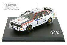 AUDI quattro-yacco-tour de France auto 1984-Darniche - 1:43 trofeu 1618