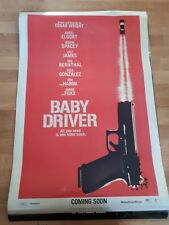 Baby Driver original cinema poster d/s one sheet poster TEASER