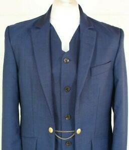 Vivienne Westwood Blazer UK 44 EU 54 Slim Wool Blue Waistcoat Italy Christmas