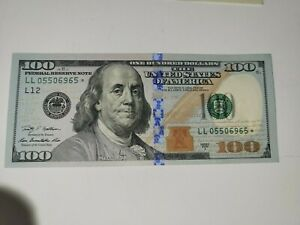 * Star * Note $100 Bill United States Federal Reserve Series 2009 A