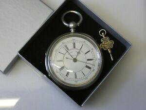 Beautiful Antique Victorian Chester Hallmark Silver Chronograph Pocketwatch 1890