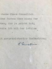 ✅ Albert Einstein Brief mit originaler Unterschrift, Einstein letter signed