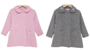 TROTTERS GIRLS GREY OR PINK ALEXANDRA KNITTED COAT - New
