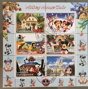 Tadjikistan 2003 M/S Walt Disney Cartoon Animation Mickey Mouse Stamps CTO (1)
