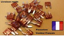 Lot de 5 mini fuses 40 Amp 40A auto moto automobile car 16x11mm 1-9