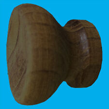 4x 34mm Concave Teak Wood Kitchen Drawer Cupboard Cabinet Door Handles Pull Knob