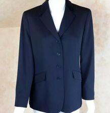Lauren Ralph Lauren Size 12P Blazer Jacket Black Wool Velvet Collar Equestrian