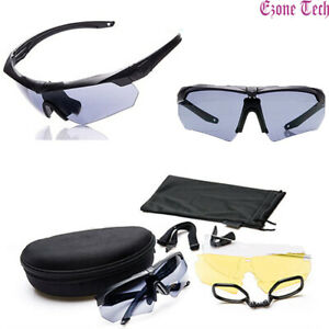 3 Lens Shooting Glasses Polarized Safety Eye Protection Sport Tactical Eyewear