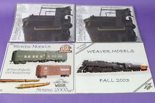 Lot of 4 Weaver Models Weaver Trains Quality Craft Models catalogs 2003 2005