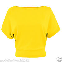 Body2Body Brand New 100% Cotton Batwing Crop Top Size S/M(UK10/12) M/L(UK14/16)