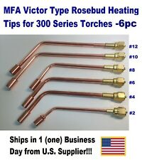 Mfa Heating Nozzle Tips Rosebud For Victorvictor Type 300 Series 6 Pc