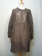 NWT cotton/silk tunic 3/L sequinned front