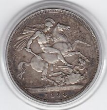 1898    Queen  Victoria  Large  Crown / Five Shilling  Coin