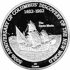 """20 Crown Turks & Caicos """"Columbus Discovery of the New World"""" PP The Santa Maria"""