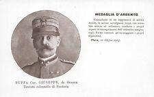 5236) WW1, BUFFA GIUSEPPE DA GENOVA MEDAGLIA D'ARGENTO AL V.M. A PLAVA.
