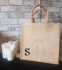 10% OFF Personalised Reusable Natural Brown Jute Hessian Tote Shopping Bag