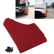 4pcs Full Set Red Car Mudflaps Mud Flaps Universal Rally Auto Body Accessories