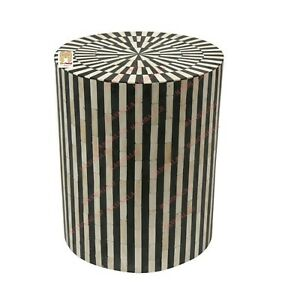 Bone Inlay Stool Home Decor Furniture Side Table lamp table night stand  Deco US