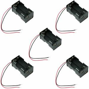5 x 4 AA Battery Holder Case Box W/ 150mm Wire Leads (2+2)