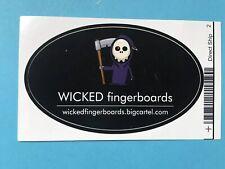 "RARE Vintage Tech Deck ""Wicked Fingerboard""Sticker New"