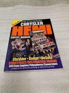 Tex Smiths The Complete Chrysler Hemi Engine Manual NR!  392 354 331 Early Hemi