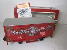 LGB 4335 2 (4335 S) CHRISTMAS MELODY SOUND BOX CAR -NEW