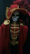 The Masque of the Red Death ~ Edgar Allen Poe Story OOAK Barbie Ken doll skull