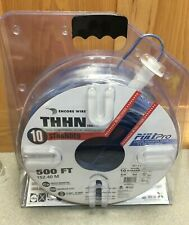 Encore Wire THHN 10 AWG 30 AMP BLUE STRANDED WIRE 500 FT SPOOL PULLPRO made USA