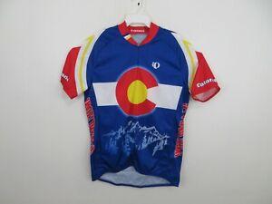 Pearl Izumi Bike Jersey Shirt Colorado State Flag Full Zip Blue Mens 2XL XXL