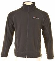 BERGHAUS Mens Fleece Jacket Size 38 Medium Black Polyester JX20