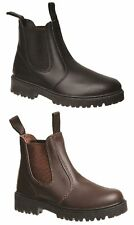 BOYS TEENS GROSBY RUSTLE JNR Dress/FORMAL/CASUAL/WORK/SHOES BOOTS BLACK BROWN