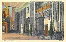 Baton Rouge LA~Memorial Hall~State Capitol Interior~Italian Marble~Murals~1936