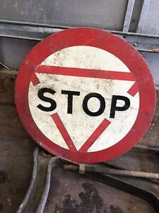 Large Vintage Stop Sign