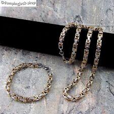 Massive Edelstahl Königskette • Halskette und Edelstahl Königsarmband im Set