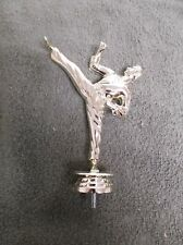 """male karate topper lot of 11 trophy parts Cat 6"""" tall"""