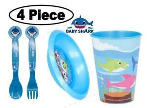 Baby Shark 4Pc Licenced Character Breakfast Set-Tumbler, Bowl,Fork &Spoon