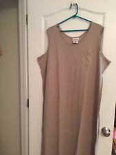 NEW BLAIR Sleeveless Maxi Tank Dress 2XL BEIGE