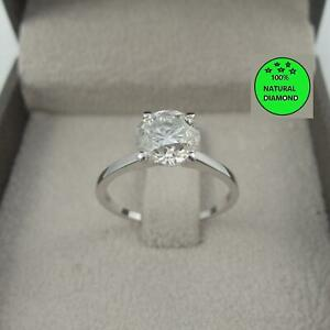 DIAMOND ENGAGEMENT RING 1 CARAT ROUND F I1 100% NATURAL SOLITAIRE 14K WHITE GOLD
