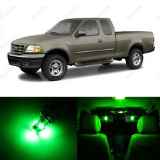 15 x Green LED Interior Light Package For 1997 - 2003 Ford F-150 F150 + PRY TOOL