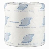 GEN Standard 1-Ply Toilet Paper Rolls, 1000 Sheets, White, 96 Rolls (GEN218)