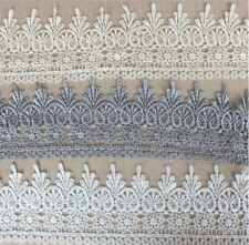 1-3m Spitze feines Polyester Spitzenband Lace  Ätzspitze gold silber weiß creme