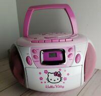 HELLO KITTY SANRIO CD / Cassette Tape Player STEREO AM/FM Radio Recorder RARE
