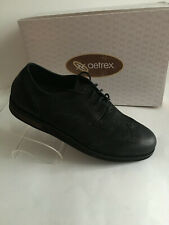 New AETREX DALTON Men's Black Leather Wingtip Oxford Shoes US Sz 12.5M NO BOX