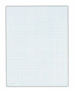 """Tops 5 Square/inch Quadrille Pads - 50 Sheet - 20 Lb - Quad Ruled - Letter 8.50"""""""