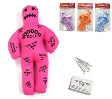 4 FUNNY MAGIC VOODOO DOLL W STICK PINS gag prank pay back novelty joke vodoo